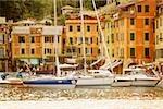 Bateaux au port, Riviera italienne, Porticciolo, Portofino, Gênes, Ligurie, Italie