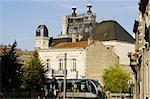 Cable car in a city, Vieux Bordeaux, Bordeaux, France
