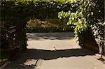 Entrance gate of a garden, Aquitaine, France