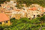 High angle view of a town, Costiera Amalfitana, Amalfi, Salerno, Campania, Italy