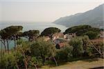 High angle view of a town, Vietri sul Mare, Costiera Amalfitana, Salerno, Campania, Italy