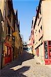 Buildings along an alley, Le Mans, Sarthe, Pays-de-la-Loire, France