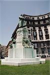 Low angle view of a statue, Statua di Umberto I, Via Nazario Sauro, Naples, Naples Province, Campania, Italy