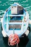 High angle view of a boat in the sea, Italian Riviera, Mar Ligure, Genoa, Liguria, Italy