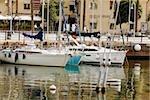 Boats at a harbor, Porto Antico, Genoa, Liguria, Italy