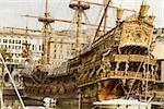 Ship at a harbor, Porto Antico, Genoa, Italy