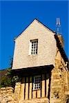Low angle view of a medieval house, Le Mans, Sarthe, Pays-de-la-Loire, France