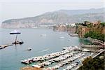High angle view of boats, Salerno, Campania, Italy