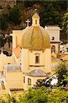 High angle view of a church in a town, Chiesa di Santa Maria Assunta, Positano, Amalfi Coast, Salerno, Campania, Italy