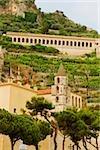 Low angle view of buildings, Costiera Amalfitana, Salerno, Campania, Italy