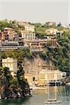 Bateaux dans un port, Sorrento, péninsule de Sorrente, Province de Naples, Campanie, Italie