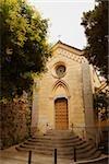 Facade of a church, Positano, Salerno, Campania, Italy