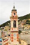 Église dans une ville, Chiesa di Santa Margherita, Sori, Ligurie, Italie
