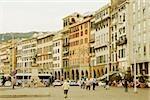 Buildings in a city, Piazza Caricamento, Palazzo San Giorgio, Genoa, Italy