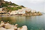 Town at the seaside, Marina Grande, Costiera Amalfitana, Amalfi, Salerno, Campania, Italy
