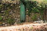 Door in a stone wall, Cinque Terre National Park, La Spezia, Liguria, Italy