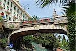 Low angle view of a bridge, Italian Riviera, Via Antonio Gramsci, Santa Margherita Ligure, Genoa, Liguria, Italy