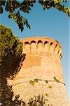 Low angle view of a fort, Rocca di Montestaffoli, San Gimignano, Siena Province, Tuscany, Italy