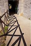 Entrance of a tunnel, Pont Yssoir, Le Mans, Sarthe, France