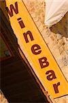 Close-up of a bar sign, San Gimignano, Siena Province, Tuscany, Italy