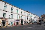Building at the roadside, Corso Umberto I, Vietri sul Mare, Costiera Amalfitana, Salerno, Campania, Italy