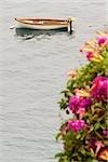 High angle view of a rowboat, Costiera Amalfitana, Salerno, Campania, Italy