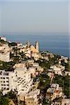 High angle view of a church in a city, Parrocchiale di San Gennaro, Amalfi Coast, Vettica Maggiore, Salerno, Campania, Italy