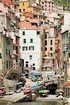 Buildings at the seaside, Cinque Terre National Park, RioMaggiore, Cinque Terre, La Spezia, Liguria, Italy