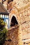 Low angle view of the old ruins of a building, Le Mans, Sarthe, Pays-de-la-Loire, France