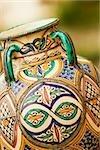Close-up of a ceramics pot, Positano, Amalfi Coast, Salerno, Campania, Italy