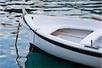 Boat moored in the sea, Italian Riviera, Portofino, Genoa, Liguria, Italy