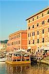 Buildings at the waterfront, Calata Del Porto, Italian Riviera, Santa Margherita Ligure, Genoa, Liguria, Italy
