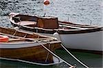 Boats moored in the sea, Italian Riviera, Santa Margherita Ligure, Genoa, Liguria, Italy