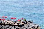 High angle view of a group of people on a platform, Marina Grande, Capri, Sorrento, Naples Province, Campania, Italy