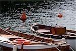 Bateaux dans la mer de la Riviera italienne, Santa Margherita Ligure, Gênes, Ligurie, Italie