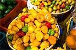 Légumes au marché de décrochage, Nuevo de San Juan, Etat de Michoacan, Mexique