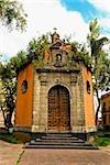 Facade of an octagonal chapel, Plaza De La Concepcion, Mexico City, Mexico