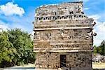 Ruines d'un bâtiment, construction religieuse, Chichen Itza, Yucatan, Mexique