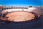 Vue grand angle sur une arène, Plaza De Toros San Marcos, Aguascalientes, Mexique