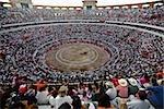 Spectateurs regardant une corrida dans une arène, Plaza De Toros San Marcos, Aguascalientes, Mexique