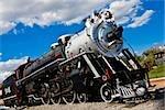 Low angle view of a locomotive, Three Centuries Memorial Park, Aguascalientes, Mexico