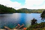 High angle view of a lake, Lagunas De Montebello National Park, Chiapas, Mexico