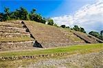 Vieilles ruines dans un paysage, El Tajin, Veracruz, Mexique