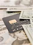 Banknotes and credit card