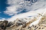 Drapeaux de prière et de l'Himalaya