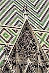 Toit de la cathédrale St Etienne, Vienne, Autriche