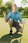 Golfeur frustré