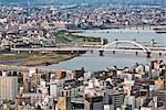 Yodo River, Osaka, Osaka Prefecture, Kinki Region, Honshu, Japan