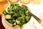 Nahaufnahme der Salat im Restaurant