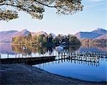 Derwent Water from Keswick, Lake District, Cumbria, England, United Kingdom, Europe